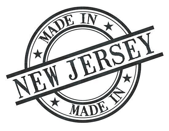 Made In New Jersey Stamp Style Logo Symbol Black