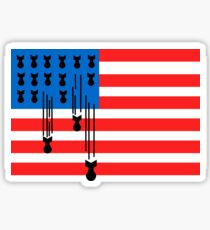 USA bombing flag Sticker