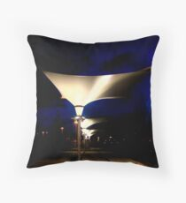 Lights Leaving The Mall Throw Pillow
