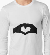 Unconditional love hands together Long Sleeve T-Shirt