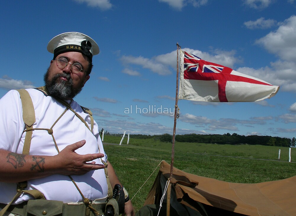 Her Majesty royal naval sailor by al holliday