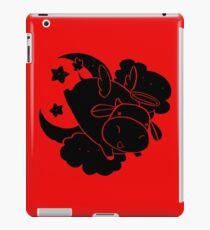 Angel Cow - Black Color iPad Case/Skin