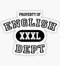English Department Property Sticker