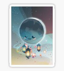 Lantern Moon (Ramadan Kareem) Glänzender Sticker