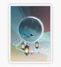 Lantern Moon (Ramadan Kareem) Transparenter Sticker