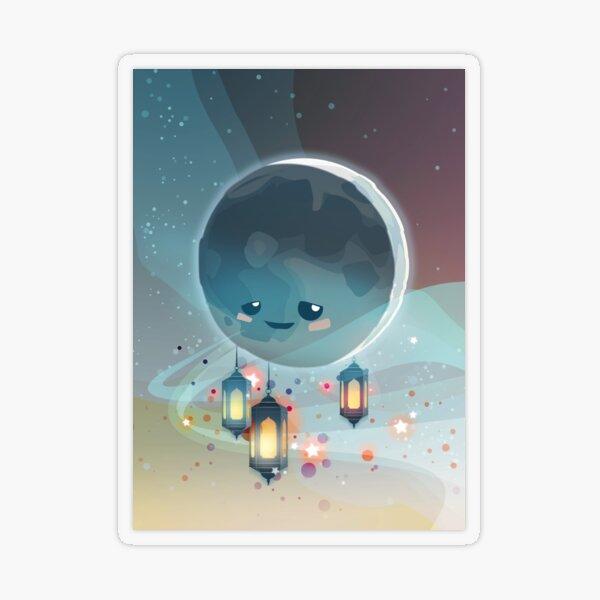 Lantern Moon (Ramadan Kareem) Transparent Sticker