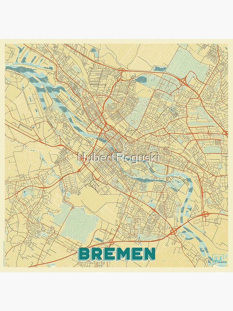 Bremen Map Retro by HubertRoguski