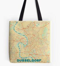 Dusseldorf Map Retro Tote Bag