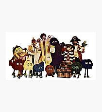 McDonalds classic characters Photographic Print