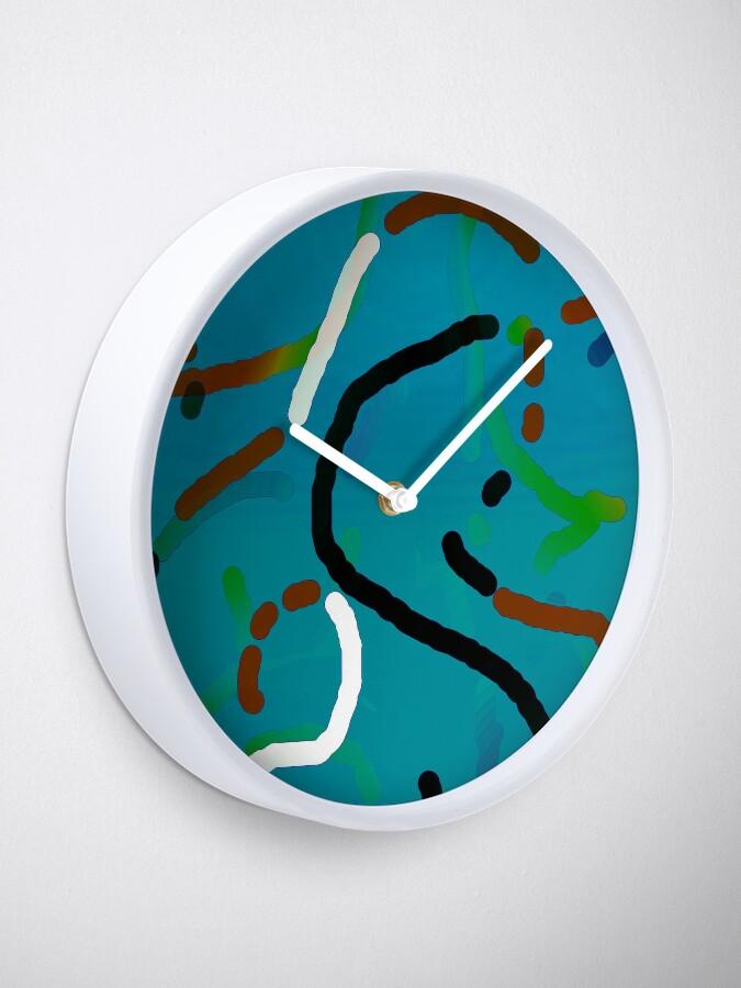 Alternative Ansicht von Blue green worms Uhr