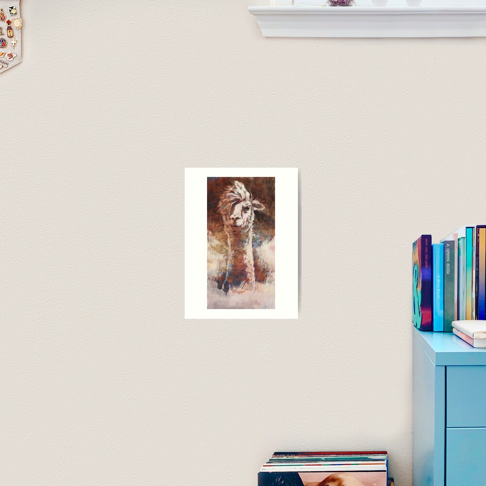 Artsy Llama Kunstdruck