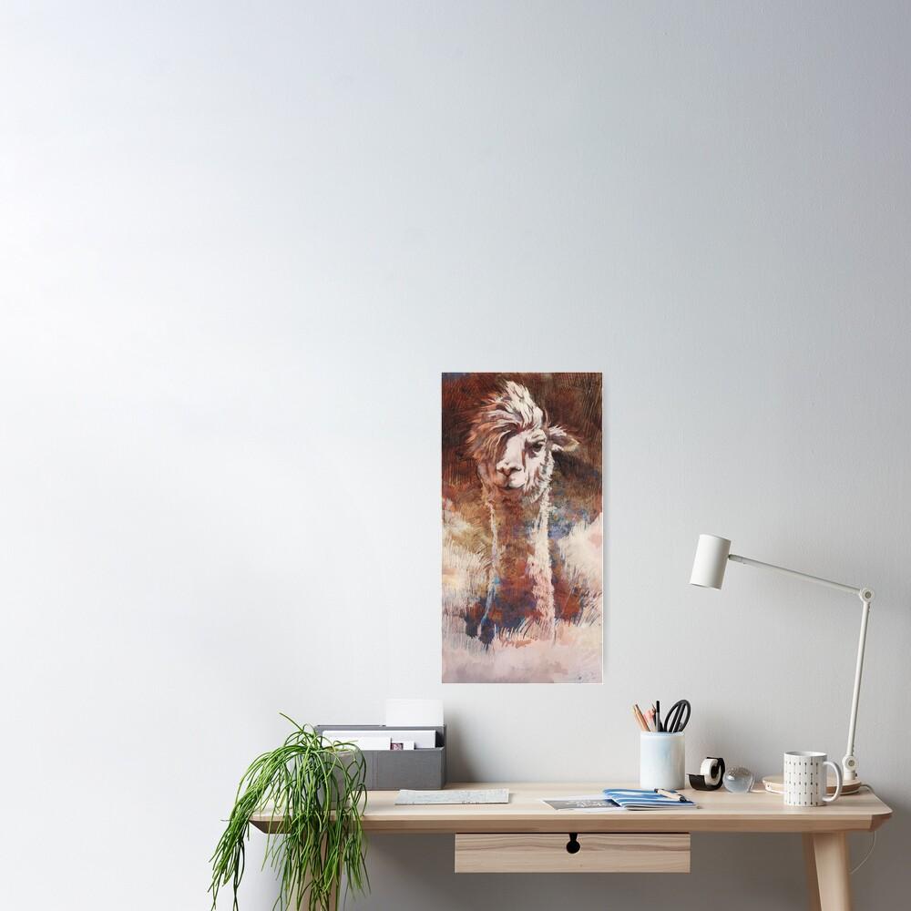 Artsy Llama Poster