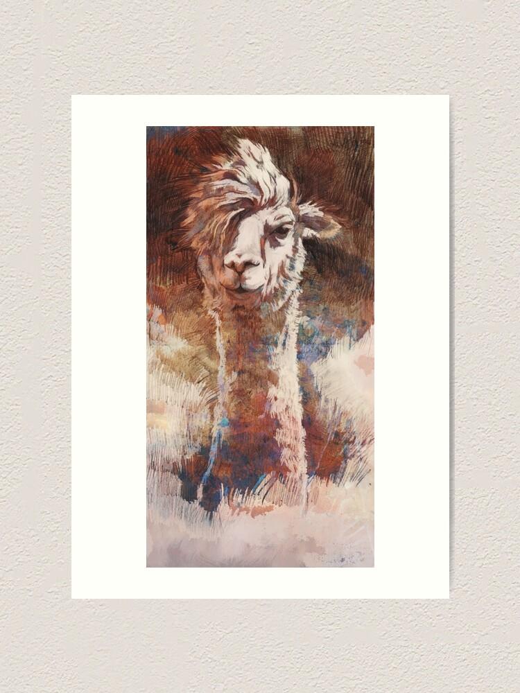Alternative Ansicht von Artsy Llama Kunstdruck