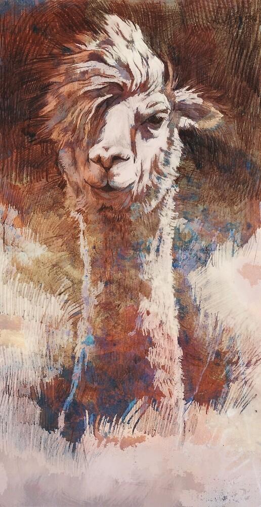 Artsy Llama von Atelier Eyeling