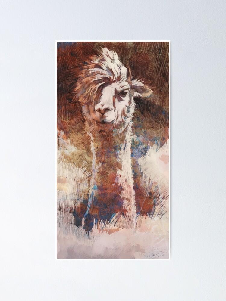 Alternative Ansicht von Artsy Llama Poster