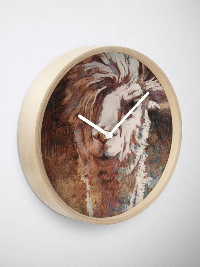 Alternative Ansicht von Artsy Llama Uhr