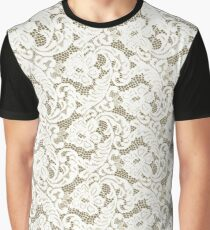 IVORY GUIPURE LACE ,,,House of Harlequin Graphic T-Shirt