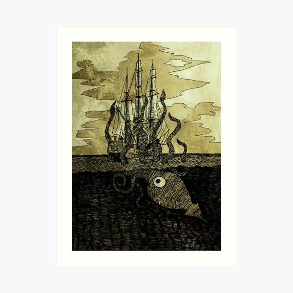 Kraken Hug Art Print