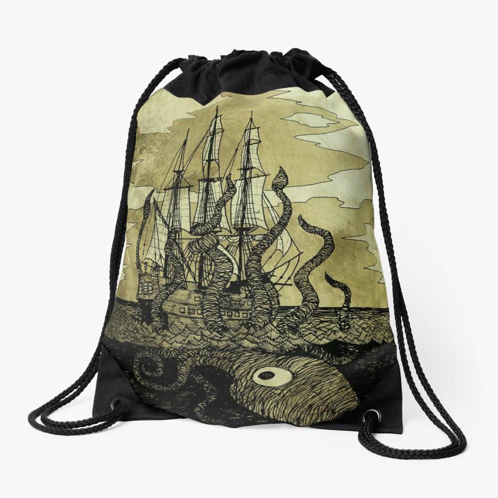 Kraken Hug Drawstring Bag