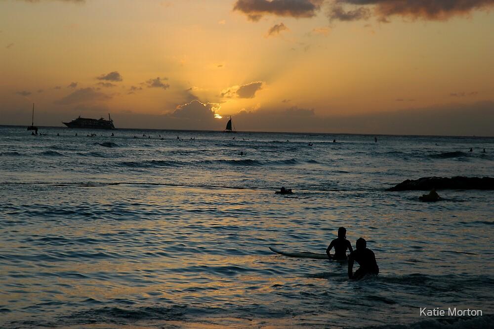 Waikiki Sunset by Katie Morton