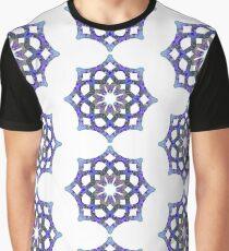 Yoga Mandala Symbol blau Graphic T-Shirt