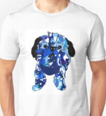 Oliver in Blue Camo Unisex T-Shirt