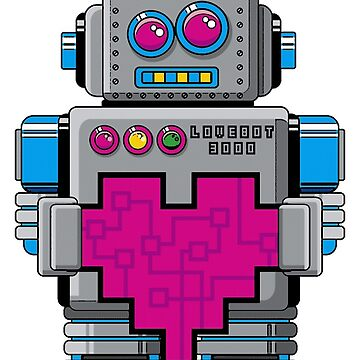 Love Robot 3000 - T-shirt by GeeklyShirts