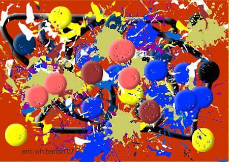 (HAPPY YEAR ) ERIC WHITEMAN  ART  by eric  whiteman