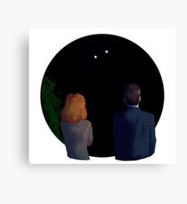 UFO Watching Canvas Print