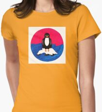 bright penguin Womens Fitted T-Shirt