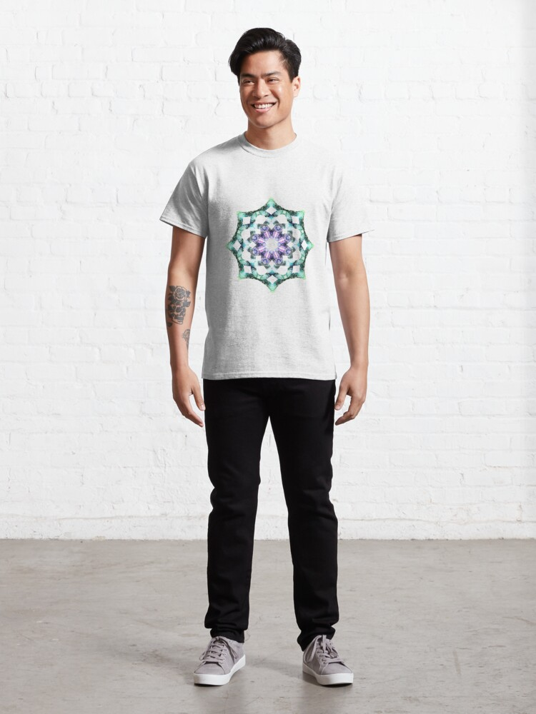 Alternate view of Yoga mandala icon green Classic T-Shirt