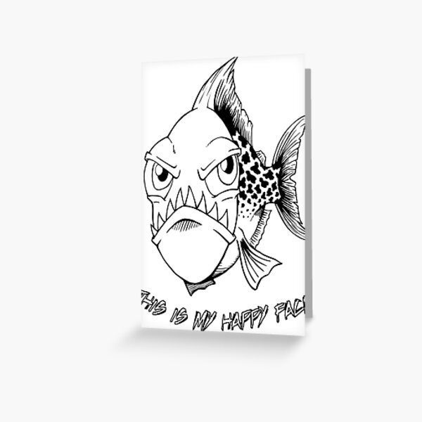 Happy Piranha Greeting Card
