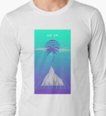 Neon Vaporwave (Minimalistic Japanese) Long Sleeve T-Shirt