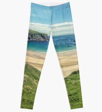 Silver Strand Beach From Above Leggings