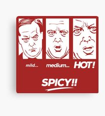 mild medium Hot! SPICY!! Canvas Print