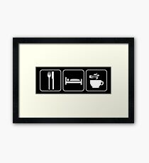 Food Sleep Coffee Framed Print