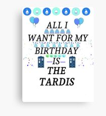 Birthday Tardis Canvas Print