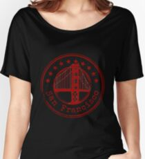 San Francisco Stamp Women's Relaxed Fit T-Shirt