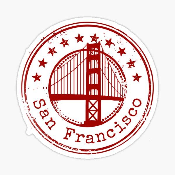 San Francisco Stamp Sticker