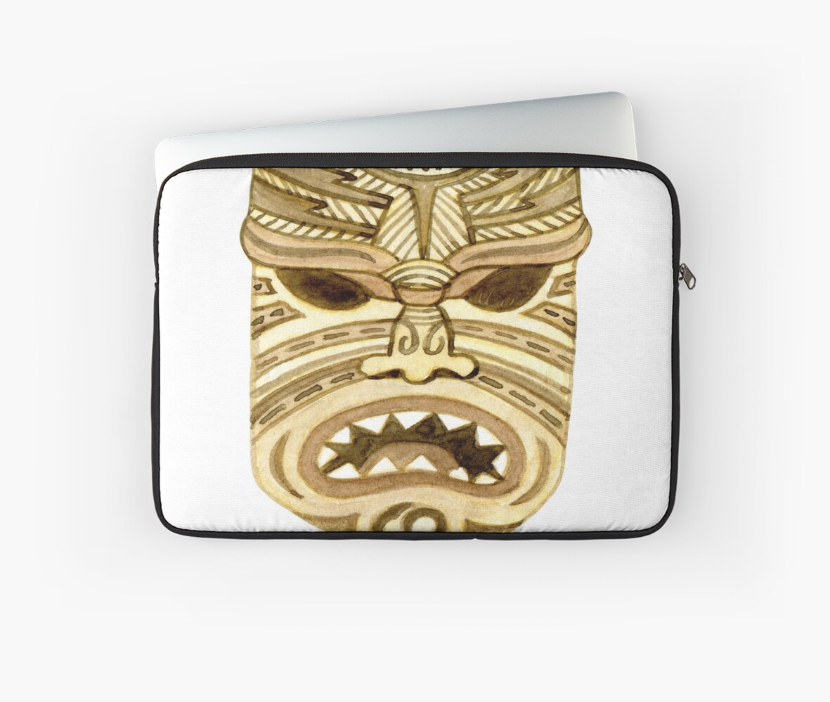Tiki Mask This is my happy Face Maoi Funny Hawaiian Polynesian ...