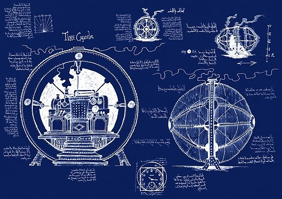 "Time Machine Blueprints"" Poste..."