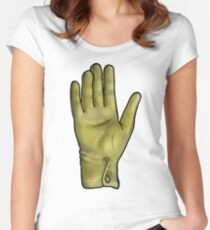 Talk To The Hand (Yellow) Women's Fitted Scoop T-Shirt