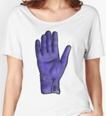 Talk To The Hand (Blue) Women's Relaxed Fit T-Shirt