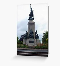 Monument to the fallen soldiers Greeting Card