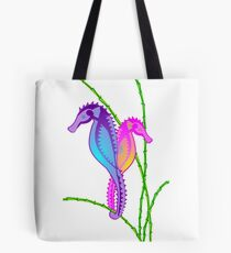 Seahorse Sea-lebrities Tote Bag