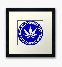 Medical use blue Framed Print