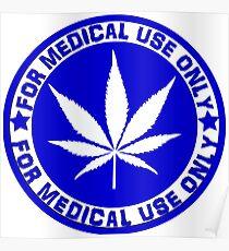 Medical use blue Poster