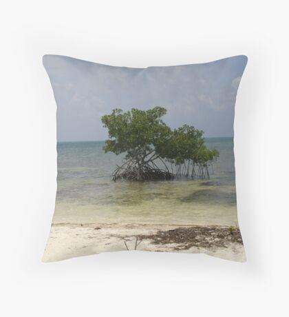 Lone Mangrove Tree Throw Pillow