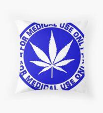 Medical use blue Throw Pillow