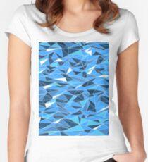 Geometric Seascape Women's Fitted Scoop T-Shirt